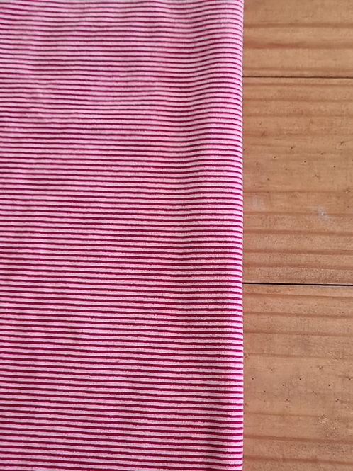 Plush listra fina  vermelho e branco