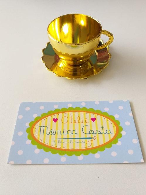 Mini Xícara Dourada