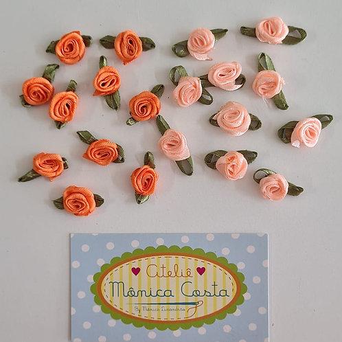 Rosa rococó  laranja e salmão