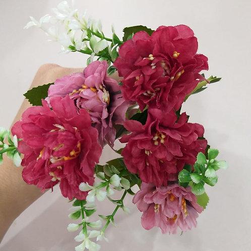 Flor Artificial tons rosa antigo