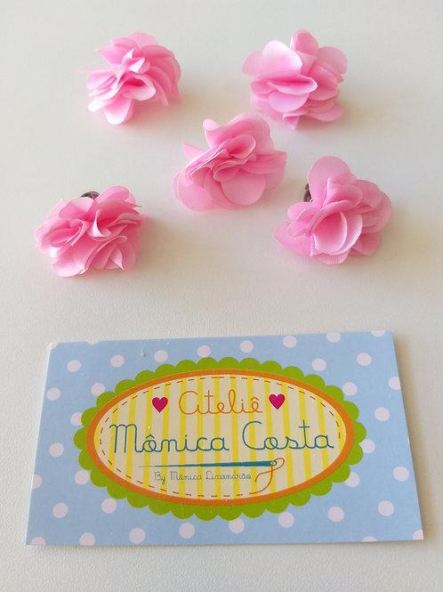 Flor média pingente rosa
