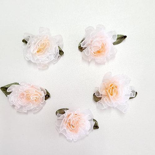 Flor Salmão renda
