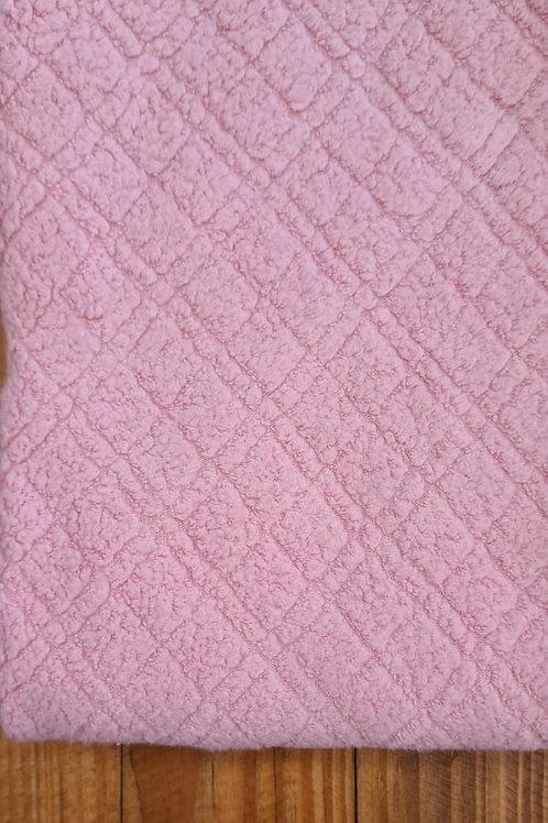Uniflock/Melton Quadriculado Rosa Antigo