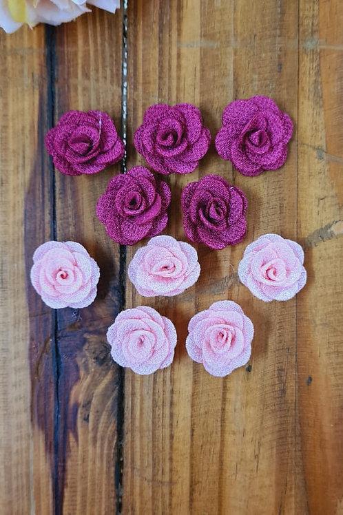 Flores delicada compose rosa e bordo