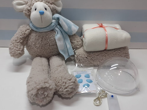 Kit Material Ovelha baby Brilhante  Bege Antigo