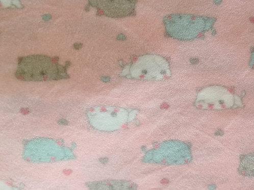 Micro Soft Gatinhos Fofo rosa