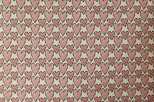 Tecido Coração Rose Anne