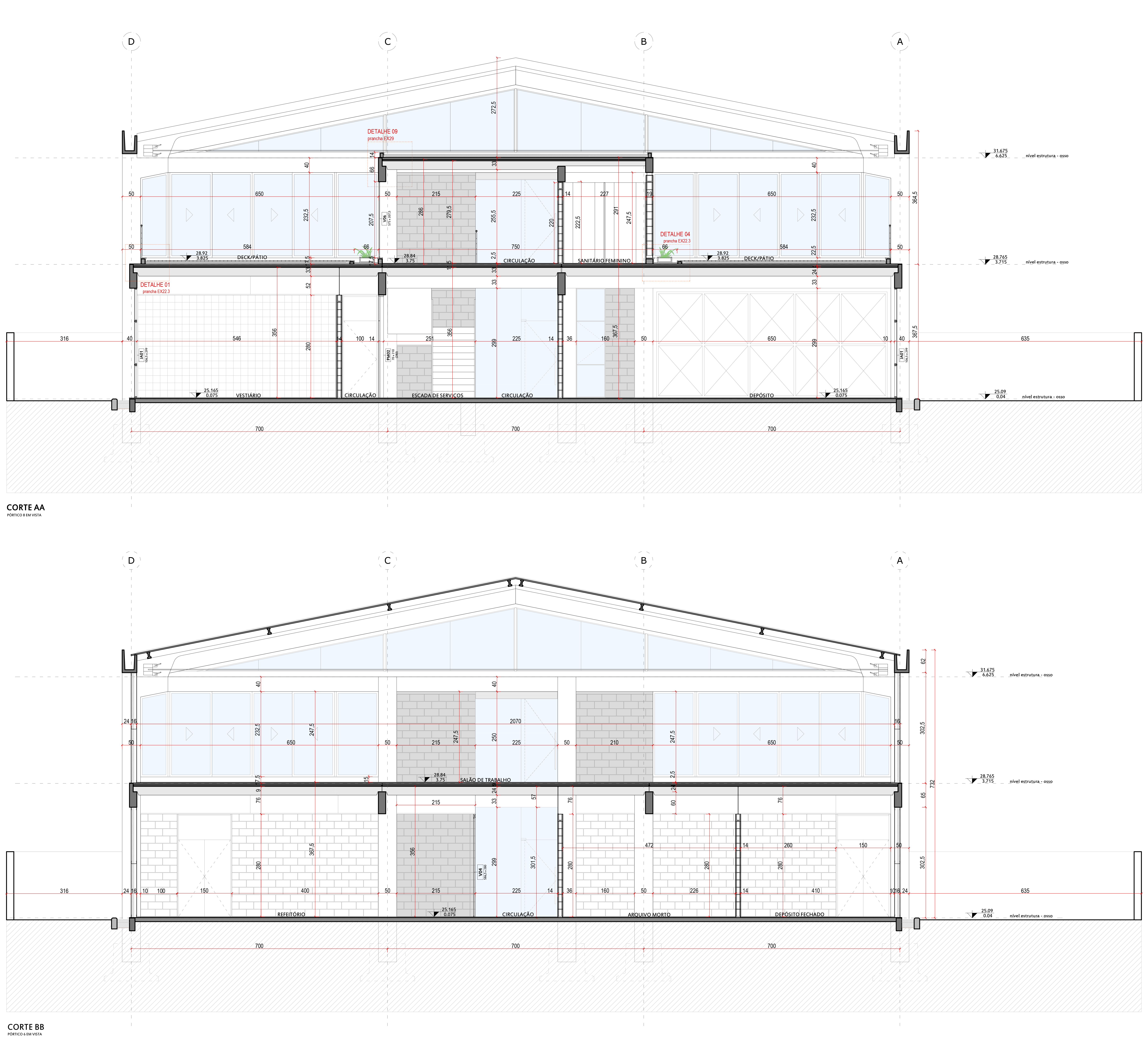Engemold Headquarters - Sections