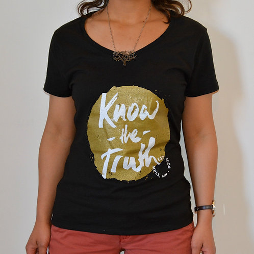 Know the Truth Black & Gold Women's Tee
