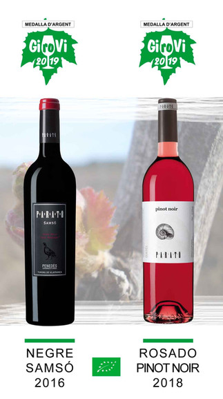 Dos vinos Parató con medalla en el Girovi 2019