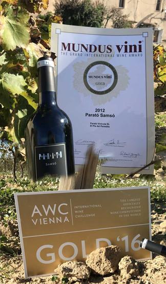 """Doble medalla para nuestro vino: """"Negre Samsó 2012"""""""