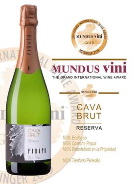 Mundus Vini-Gold Medal                 Cava Parató Brut Organic