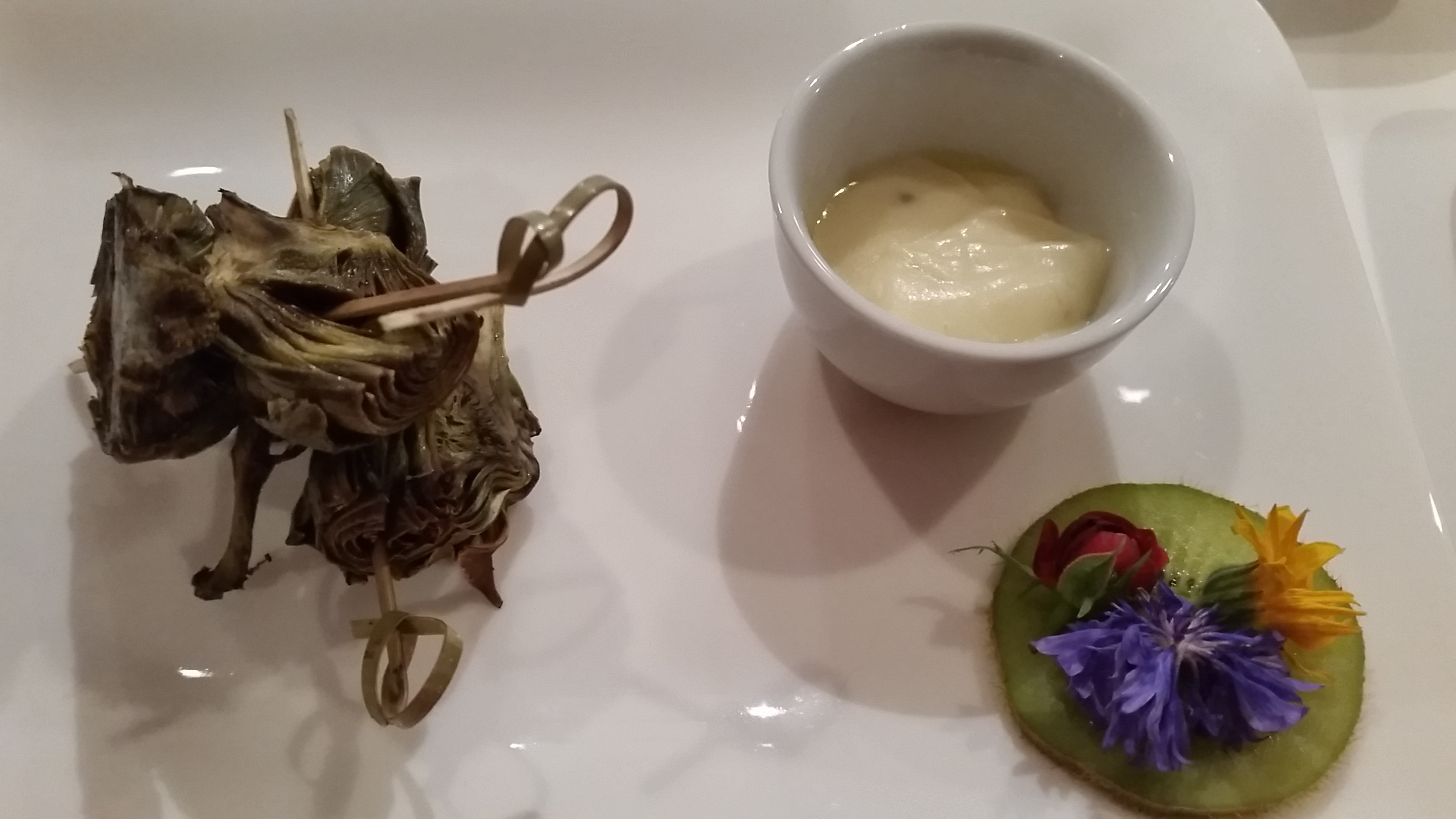 Grilled artichoke and aioli