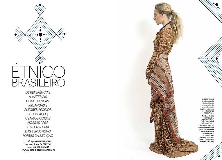Ensaio Revista Claudia Editora Abril Ilustração Alex Cerveny Fotos Manu Oristanio