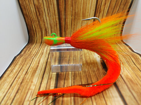 First Flight Green & Orange Dragon Tail Cobia Jig