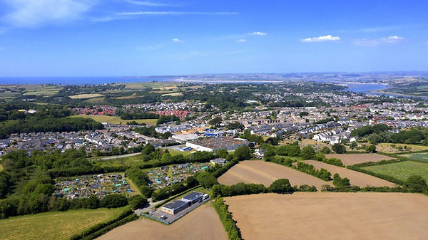 Aerial view of Holistic Therapies Training Academy, Bideford, North Devon offering Sports massage, massage, reflexology, aromatherapy, Personal training, Nails,and beauty VTCT and accredited training courses
