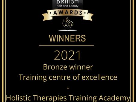 We won an award - The British hair & beauty awards 2021