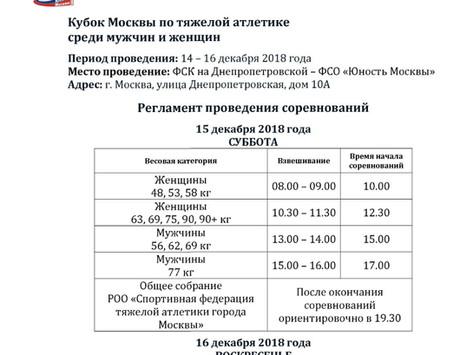 Кубок Москвы по тяжелой атлетике среди мужчин и женщин