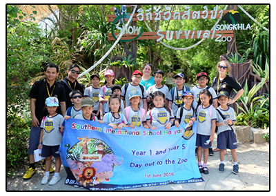 Year 1 and Year 5's end of year educational visit to the zoo. They reviewed different topics from their IPC classes as they looked around the zoo.
