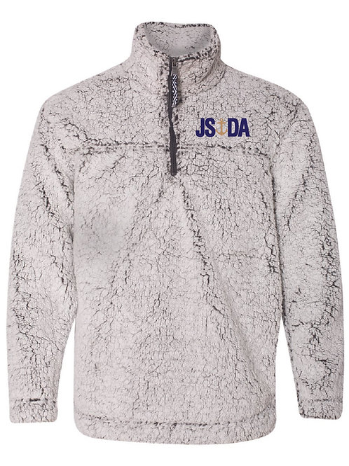 Unisex Sherpa Quarter-Zip Pullover - FROSTY GREY