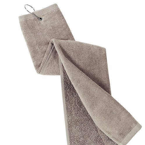 Embroidered Center Grommeted Tri-Fold Sport Towel