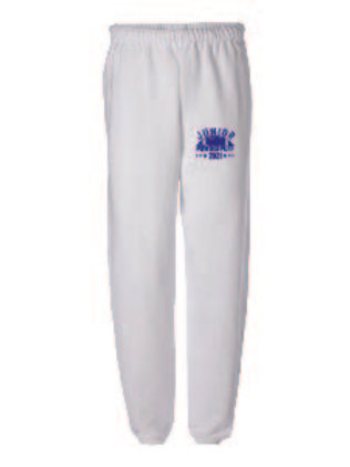 JUNIOR_JERZEES - NuBlend® Sweatpants-WHITE