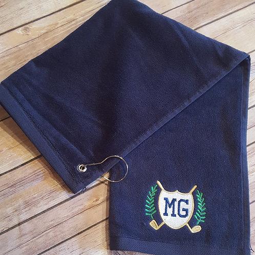 Embroidered Corner Grommeted Sport Towel