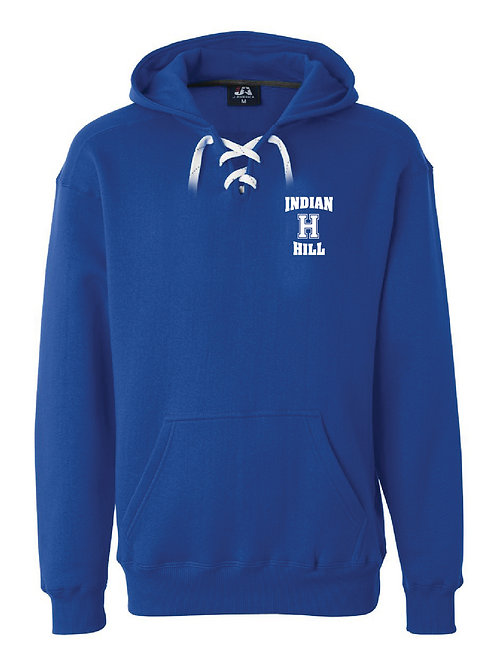 Lace Up Pullover Hoodie