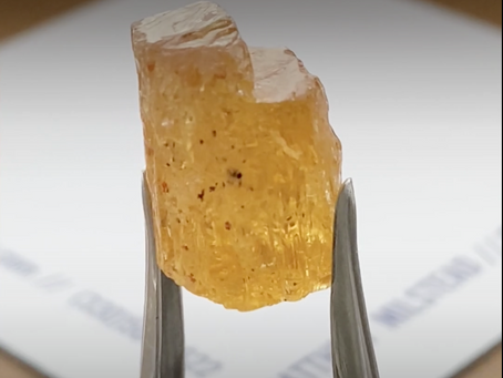 Outshining Gold: Imperial Topaz Rough from The Black Gold City