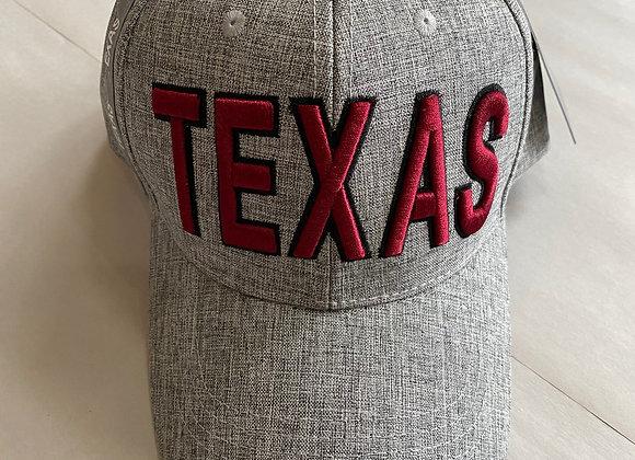 Gray/Maroon Texas Ball Cap