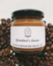 manteiga de amêndoa com chocolate e café