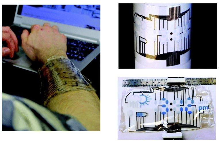 Imagens da tela biodegradável em uso