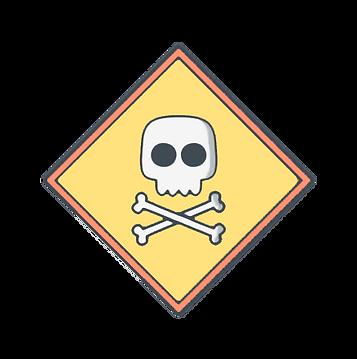 caveira tóxico