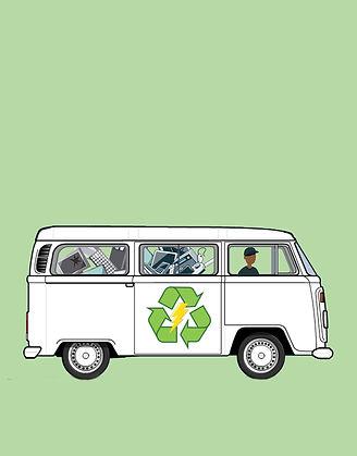 Coleta de reciclagem