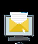 tela de computador com ícone de e-mail