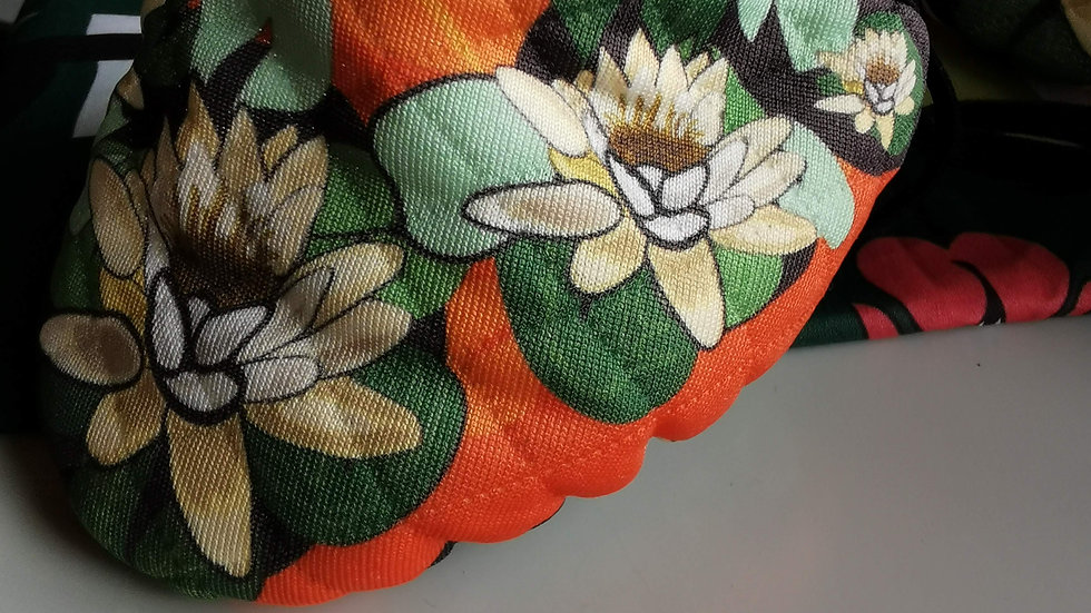 Orange Water Lily Mask