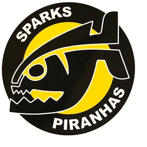 Large Sparks Piranhas Sticker