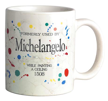 MICHELANGELO ARTIST MUG