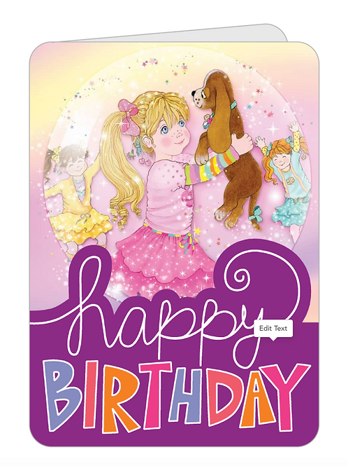 Candi Birthday and Chocolate Pudding Birthday Card