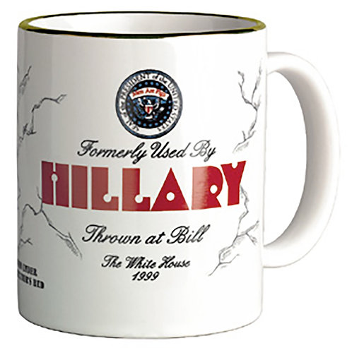 Gold Rim COLLECTABLE FORMERLY USED BY HILLARY MUG