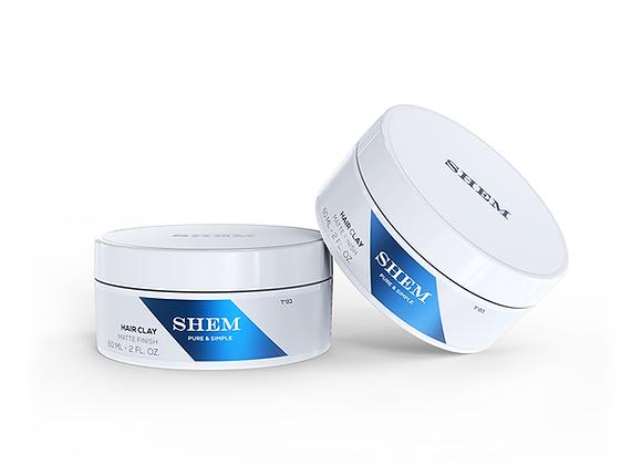 6-PACK - SHEM HAIR CLAY - Matte Finish - 2 fl.oz. - 60 ml