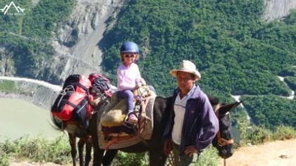 family hike near shaxi