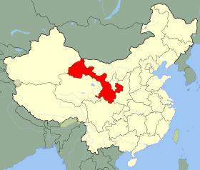 gansu map
