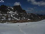 sur le glacier du Dafeng à Siguniang