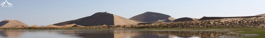 lac dans le désert de Badin Jaran