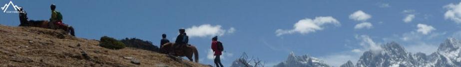 randonnée en famille fa à la montagne du Dragon de Jade