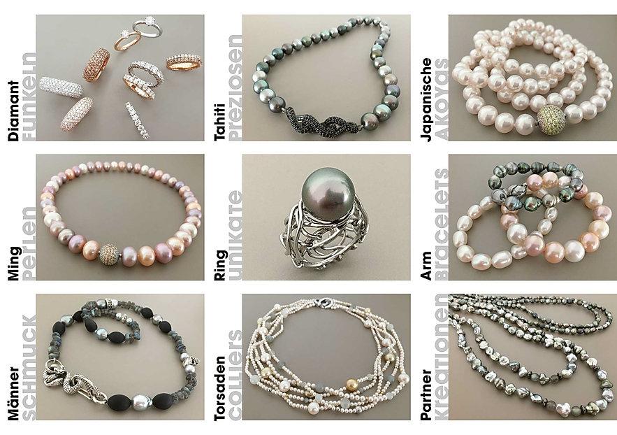 diamanten - preziosen - akoyas - perlen - colliers - schmuck - karin müller