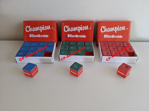 Billard-Kreide Blau, cp-automaten, C+P , Automaten, CP, Billard, Billard-Kreide Grün, Gummipuffer, Triangel, Queue Ball.
