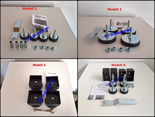 Garlando - Set verstellbare Füsse - diverse Modelle - Preis ab