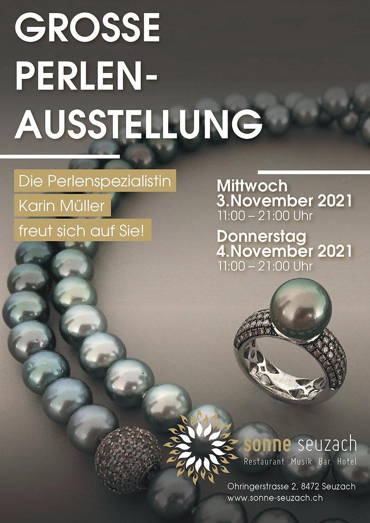 ausstellung in seuzach - karin müller - perlenunikate.ch - perlen und diamant schmuck